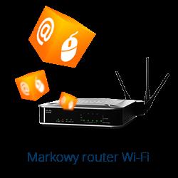 Zaznacz, jeżeli chcesz wydzierżawić Markowy router WiFi